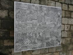 Ludwig Haas Stählerne Wellen  Skulptur aus Edelstahl, 1100 x 800 mm, 150 kg