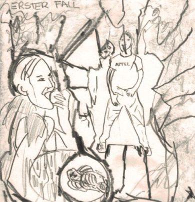 """""""in/contri"""" – Begegnungen: Peter Assmann – Zeichnung"""