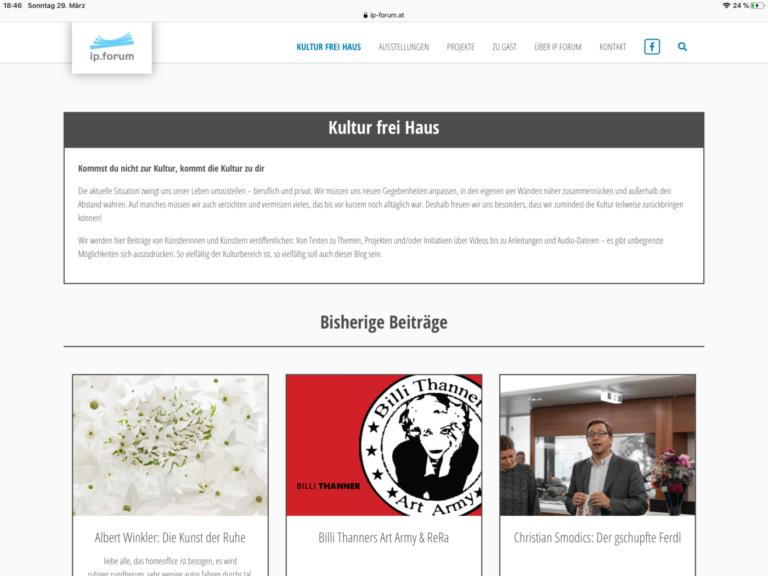ip.forum / Blog: Kultur frei Haus